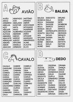 (PG) ESPAÇO EDUCAR: Fichas de Leitura para imprimir - Atividade de alfabetização