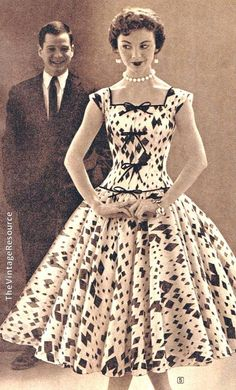 1955 bouffant dress