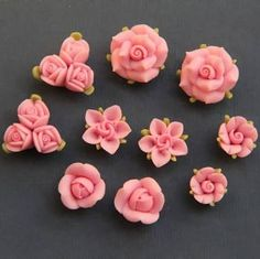 Image result for how to make polymer clay roses step by step