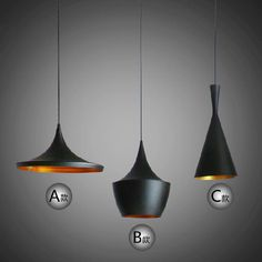 Indoor Light Tom Dixon Copper Design Shade Pendant Lamp E27 Bulbs Beat Light Ceiling Lamp Black/White Home Decoration ABC Size $142.41 | DHgate.com