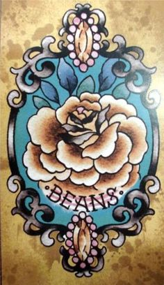 Not the beans, yucky. But the frame in traditional American design.  Love the rose.  BEANS?!??