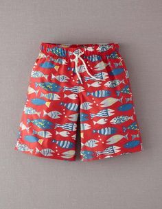 3a9c10962a400 I've spotted this @BodenClothing Boys' Bathers Red Fishies Kids Swimming,  Cute