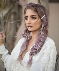 Lavender pigtails by Heather Chapman