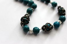 A personal favorite from my Etsy shop https://www.etsy.com/listing/254407070/bolivian-rainforest-seed-bead-necklace