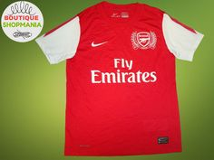762b2e0eeb5 5+/5 Arsenal London 2011/2012 Home Size XL Nike football shirt soccer jersey  | eBay