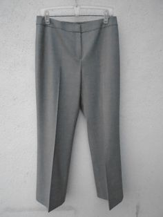 LAFAYETTE 148 Light Gray Women's Pants Career Office Size 10 #Lafayette148NewYork #CasualPants