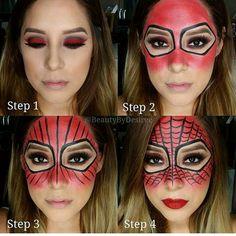 Spiderman makeup for Halloween