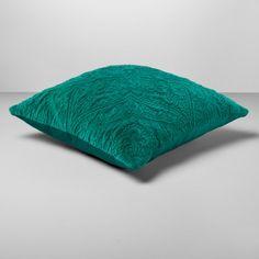Green Velvet Medallion Square Throw Pillow - Opalhouse™ : Target