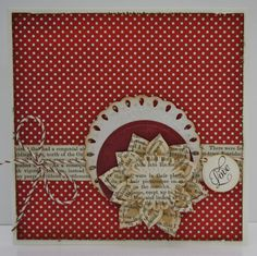 Anemone Flower Topper and  Tear Drop Circle by Spellbinders