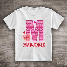 Personalized Valentines Day t-shirt gift for kids by StoykoTs