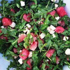 Barefoot Contessa's Arugula, Feta and Watermelon Salad.