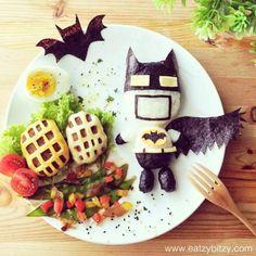 Creative Food Art by Samantha Lee | #batman like you've probably never seen him before!.