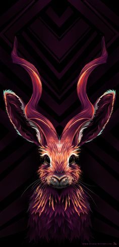 Серия работ с животными Ubuntu, арт, Животные, диджитал, декоративный рисунок, длиннопост