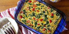 21 Day Fix Approved Spinach Tomato and Quinoa Breakfast Casserole Green 1 Red 1 Yellow) // 21 Day Fix // // fitness // fitspo // workout // motivation // exercise // Meal Prep // diet // nutrition // Inspiration // fitfood // fitfam // clean eatin Healthy Breakfast Casserole, Quinoa Breakfast, Breakfast Recipes, Breakfast Bake, Breakfast Ideas, 21 Day Fix Breakfast, Best Breakfast, Clean Eating Recipes, Cooking Recipes