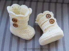 Crochet Baby Booties Crochet Boots Pattern, Crochet Booties Pattern, Baby Booties...