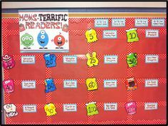 Monster Bulletin Board Ideas   this is just bulletinboard paper over my whiteboard which means
