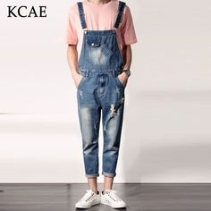 9f7dc071f0af 2016 Spring Autumn Fashion mens slim jean overalls Casual bib jeans for men  Male Ripped denim jumpsuit Suspenders Bibs-in Jeans from Men s Clothing ...