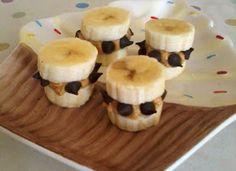 Banan, peanøttsmør og sjokolade