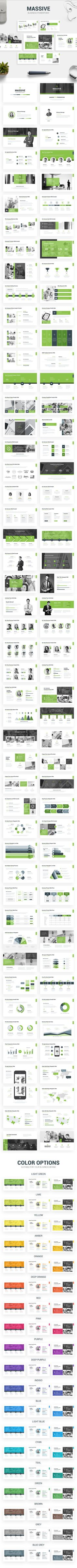 Massive - Business Presentation Template - Business #PowerPoint Templates
