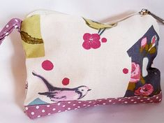 Pretty little zipper purse. Or even a few coins. Measures approx x Lined with kath kidston type floral fabric. Birdhouse Designs, Pink Makeup, Floral Fabric, Coins, Coin Purse, Birds, Etsy Shop, Wallet, Purses