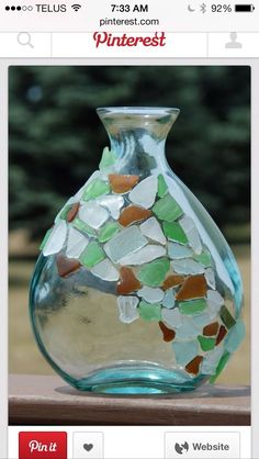 Easy, Quick Sea glass Craft!