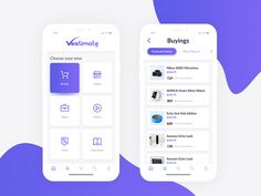 Vestimate App Landing and Product List Screen on Behance Ui Design Mobile, Mobile Application Design, App Ui Design, Interface Design, Web Design, Graphic Design, User Interface, Ui Design Principles, App Home Screen