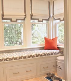 Window Treatments | Built-In Bench | Alderson-Smith-Mudroom-