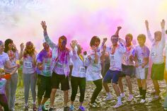 The color run :) Every kilometer you run, you get sprayed by a different color, so that by the end you are all colorful. I am so doing this sometime :D
