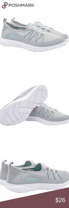 Mint//Grey Fila Women/'s Pilota Memory Foam Breathable Slip On Sneaker