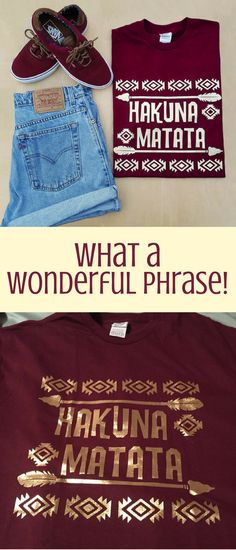 Hakuna Matata Disney Shirt | Disney Shirt | Disneyland | Walt Disney World | Disney Obsessed | The Lion King | Inspiratoinal Quote #Ad