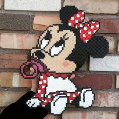 Baby Minnie Mouse perler beads by  perler_magic_geek