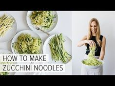 "Zucchini noodles ""zoodles"" are the perfect gluten-free, zucchini pasta. I'll show you how to make zucchini noodles and how to cook them (the best way! Cook Zucchini Noodles, Zucchini Noodle Recipes, Zoodle Recipes, Spiralizer Recipes, Vegetable Recipes, Low Carb Recipes, Vegetarian Recipes, Cooking Recipes, Healthy Recipes"