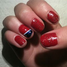 4th of July inspired nails :)