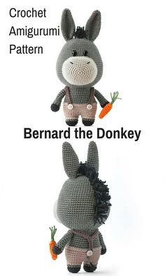 Burt the Bee is a sweet crocheted amigurumi doll that would love to buzz around your house. You can create your own Burt the Bee with this downloadable pattern. #crochet #amigurumi #crochetdoll #ad #amigurumidoll #amigurumipattern #donkey #instantdownload