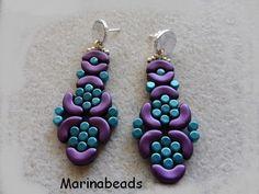 TUTORIAL Arabesque Earrings di MarinaBeads06 su Etsy