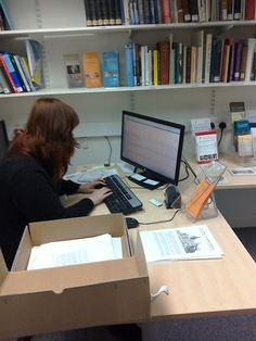 Archives & RM: UoD ‏@UoD_Archives_RM  4 One of our volunteers working from a box of records of local interest to update CALM #DayInTheLife #explorearchives