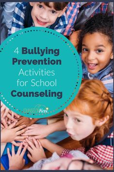 Looking for bullying prevention activities to get your students engaged with one another in meaningful ways? You'll love these 4 activities for bullying classroom guidance lessons in your school counseling program! Bullying Activities, Bullying Lessons, Kindness Activities, Counseling Activities, Group Counseling, Elementary School Counseling, School Counselor, Bullying Prevention, Guidance Lessons