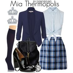 Mia Thermopolis by leslieakay on Polyvore featuring moda, Topshop, LE3NO, Lands' End, DKNY, Calvin Klein, Coach, La Preciosa, disney and disneybound