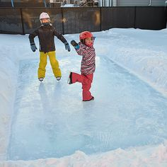 Improvements Simple Rink Backyard Ice Skating Rink ($35) ❤ liked on Polyvore featuring backyard fun, skate rink, outdoor winter fun, outdoor entertainment, ice skating rink, ice skating at home, ice skating, ice rink, backyard ice skating rink and backyard ice rink