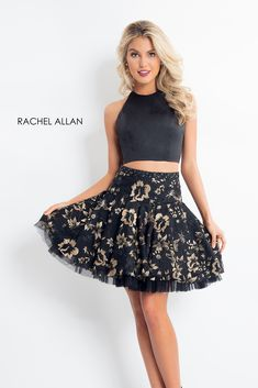 65fb1dcf288 Dance the night away at your homecoming wearing this chic Rachel Allan short  dress style Mesmerizing dress showcases a two-piece a-line style flau.