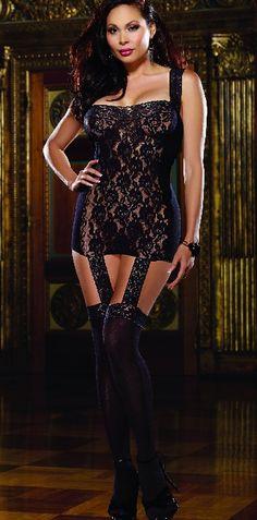 e1fa8d4ff0 Plus Size Black Diamond Tahiti Garter Dress