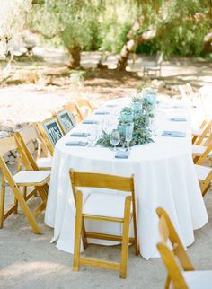 Organic elegance married with stunning details sets the tone for this rustic yet classical wedding. Outdoor Table Settings, Outdoor Tables, Outdoor Decor, Wedding Flower Decorations, Table Decorations, Wedding Ideas, Wedding Tables, Wedding Flowers, Head Tables