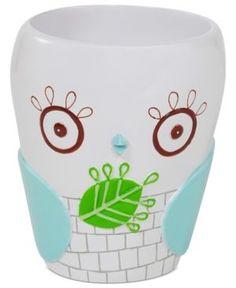creative bath accessories give a hoot tumbler white