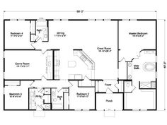 The Timberridge Elite Home Floor Plan Manufactured and/or Modular Floor Plans available Idaho, Montana, Northern California, Oregon and Washington floor plan Pole Barn House Plans, Pole Barn Homes, Shop House Plans, New House Plans, Dream House Plans, House Floor Plans, The Plan, How To Plan, Palm Harbor Homes
