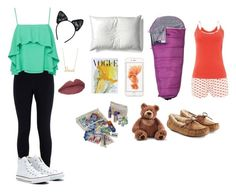 """What to bring to a sleepover"" by rosebud1234 ❤ liked on Polyvore featuring Kunst"