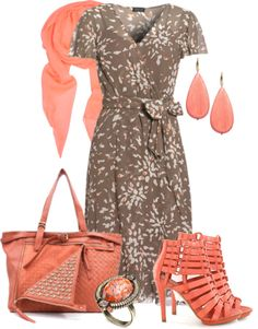 """Jaeger Silk Printed Wrap Dress"" by aannggiiee ❤ liked on Polyvore"