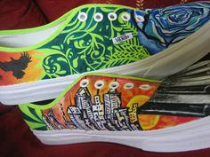Customized hand painted shoes by Dilleys on Etsy