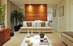 Sala de Estar com painel madeira