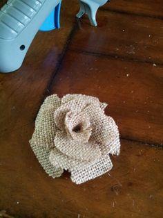 Diy burlap flower