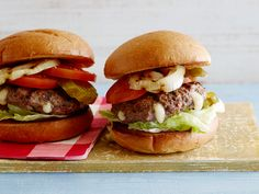 Cheese Stuffed Burgers Recipe : Trisha Yearwood : Food Network - FoodNetwork.com (and pimiento cheese recipe)